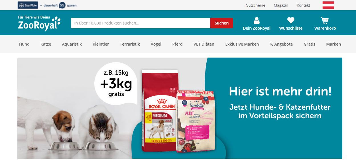 ZooRoyal Startseite Austria